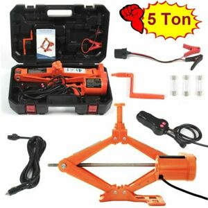Electric Car Floor Jack 5 Ton All In One Automatic 12v Scissor Lift Jack Set For