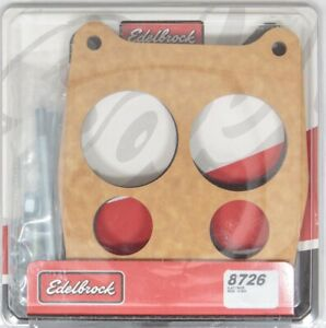 Edelbrock Carburetor Spacer 3 4in 4 hole Wood P n 8726
