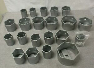 Otc Tools 9850 21 Piece 6 Point Wheel Bearing Locknut Socket Set 216332 New