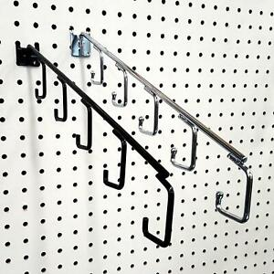 16 L Pegboard 5 Hook Waterfall Faceout Hook Black Or Chrome