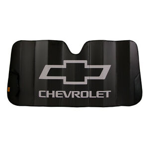 New Chevy Black Car Truck Suv Van Front Windshield Accordion Folding Sun Shade