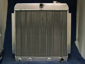 1953 1954 1955 1956 Ford Truck F 100 Radiator Aluminum With Fan And Shroud