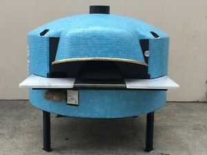 Acunto Mario Classico 140 Combo Gas Wood Pizza Oven Napoli Blue Finish