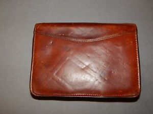 Vintage Scully Leather Zip Around Leather Organizer Binder Excellent Patina Fab