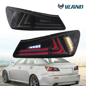 Led Tail Light Assembly Conversion Set For 06 12 Lexus Is250 Is350 Black Smoked