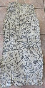 Vintage African Ituri Pygmy Zaire Bark Cloth Painting Estate Purchase