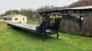 2018 Big tex 22gn Trailer 40ft Deck With Winch And Mega Ramps