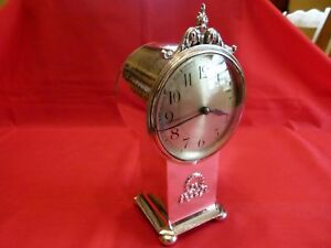 Quality A E Jones Arts Crafts Style 1922 Silver Mantle Clock Stunning Piece