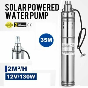 12v Submersible 35m Deep Well Water Pump alternative Energy Solar Battery To