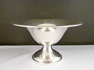 925 Sterling Silver Weighted 3 Tall Compote 197 9g
