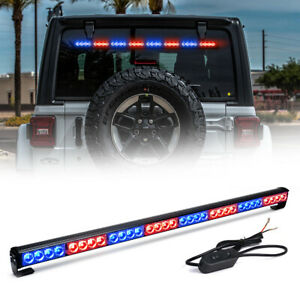 35 5 Led Warning Emergency Traffic Advisor Truck Strobe Light Bar Red