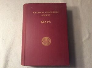 Lot Of 23 Vintage National Geographic Society World Maps In Book 40s Early 70s