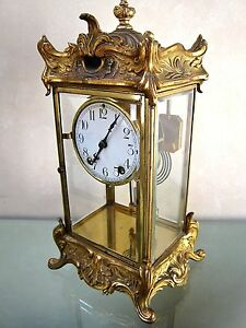Antique Crystal Regulator 1911 Mantel Clock By New Haven Key Wind Chime Guc