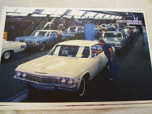 1965 Chevrolet Assembly Line Impala 11 X 17 Photo Picture