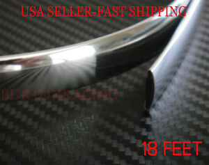 16mm X 18 Feet Chrome Trim Molding Strip Interior Exterior For Honda Toyota Ford