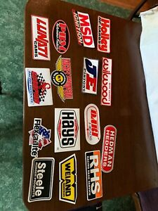 Lot Of 15 Race Car Parts Stickers Wilwood Holley Msd Weind
