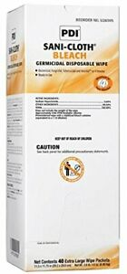 Sani cloth Bleach Disinfectant Wipes X large Case 120 Wipes 11 75 X 11 5