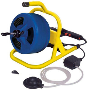 Plumbing Snakes auger Electric 5 16 In X 50 Ft Cable Pneumatic Foot Switch