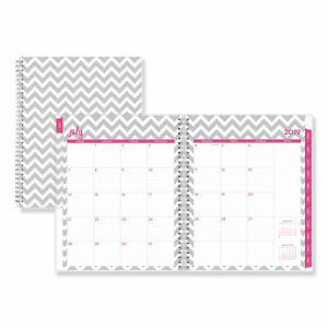 Dabney Lee Ollie Academic Weekly monthly Planner Gray Chevron 8 5x11 2019 2020