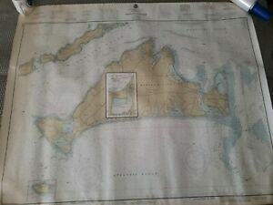 Vintage Nautical Map Chart Of Martha S Vineyard 1983 Sail Sailing