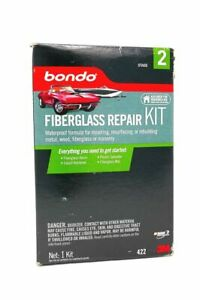 3m Bondo 422 Fiberglass Resin Repair Kit 1 Quart With Mat New