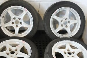Jdm Advan Rc Rally Dirt Trail 16x7 5x114 Rims Tires Subaru Honda Wheels Jdm