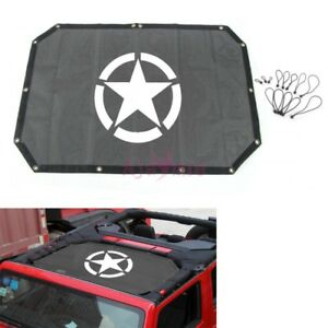 For Jeep Wrangler 2007 2017 Auto Roof Star Insulation Mesh Cover Accessories