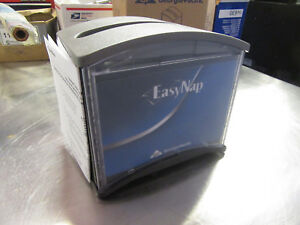 A12 Napkin Dispensers Easy Nap Table Top 54525 Lot Of 6 Gray black Spring Load