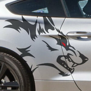 Pickup Wolf Side Coyote Fits Vinyl Mustang Vehicle Graphic Decal Sticker Truck