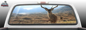 Deer Stag Scenic Mountains View Rear Window Graphic Decal Suv Truck Car Perf