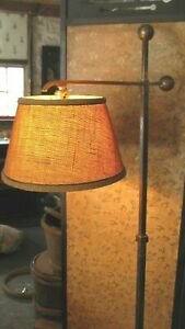 Awesome Arts Crafts Bronze Floor Lamp With Original Shade