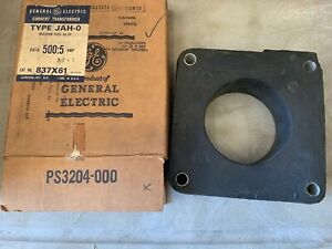 Two 2 General Electric Current Transformers Type Jah o Ratio 500 5 Amp Nos