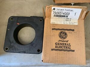 Two 2 General Electric Instrument Transformers Type Jah o Ratio 600 5 Amp Nos