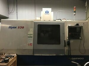 Used Daewoo Mynx 530 Cnc Vertical Machining Center Mill New 4th Axis