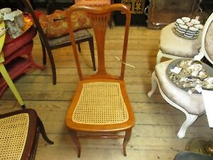 Vintage Maple Caned Seated Dinning Chair