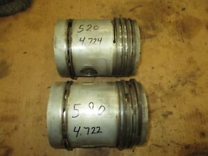John Deere 520 530 Used Pistons Set Of Two Antique Tractor