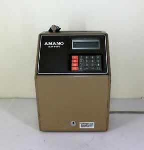 Tested Amano Mjr 8000 Computerized Calculating Time Clock Mjr 8000 W Key