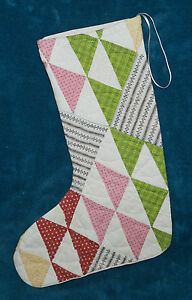 Fabulous Antique Vintage Cutter Quilt Christmas Stocking 34