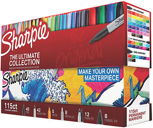 Sharpie 1983255 Permanent Markers Ultimate Collection Fine And Ultra Fine 115