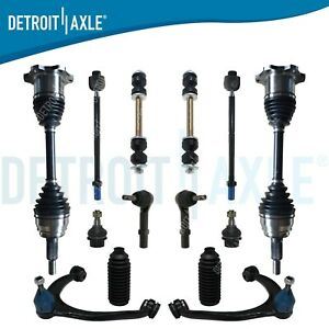 Escalade Silverado1500 Tahoe 14pc Front Cv Axle Upper Control Arm Ball Joint Kit