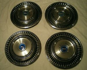 Oem Ford Mercury Cougar Set Of 4 Hub Caps 14 Wheel Covers 1971 1972 1973