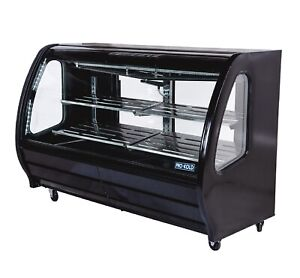74 Refrigerated Glass Deli Case Bakery Case Black Commercial Glass