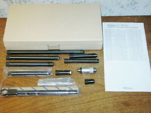 Mitutoyo Tubular Inside Micrometer Set No 139 201 1 1 2 12 Inches Lot1