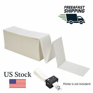 1000 Fanfold 4 X 6 Direct Thermal Shipping Mailing Barcode Address Label Zebra