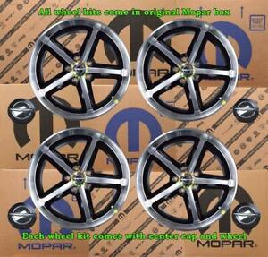 New Oem Mopar Challenger Charger Wheel Kit 4 Set 18x7 5 5lug 116mm 82212977 2423