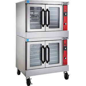 Vulcan Vc44ed 40 Double Deck Full Size Electric Convection Oven 100 000 Btu