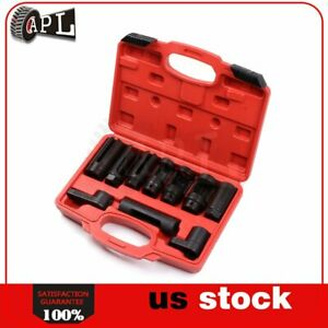 Oxygen Sensor Socket Diesel Injection 10pc Set Offset Ratchet Oil Pressure