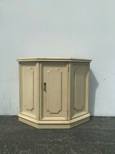 Vintage Console Cabinet Wood Buffet Server Entry Way Table Tv Stand Storage