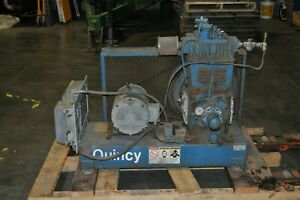 Quincy D340 Lhp Air Compressor 7 5 Hp 3 phase Pump Only