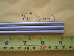 3 Pcs Stainless Steel Round Rod 302 1 4 250 6 35mm X 9 Long